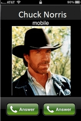 Ha Chuck Norris iPhone-on hív